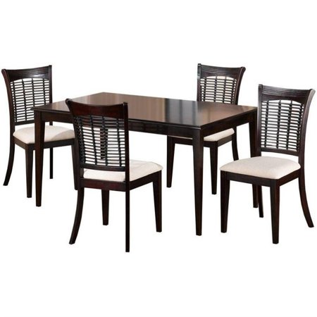 Hillsdale Furniture Bayberry 5-Piece Rectangle Dining Set, Dark Cherry