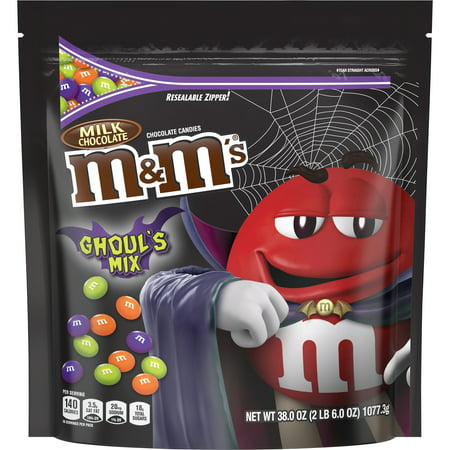 M&M'S Halloween Milk Chocolate Ghouls Mix Candy, 38 (Halloween M&m's Candy Corn)