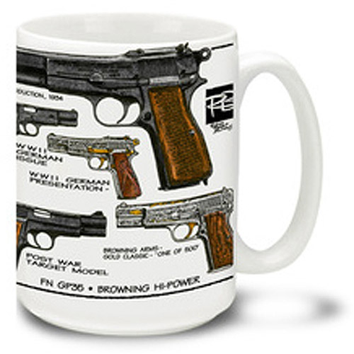 Cuppa 15-Ounce Coffee Mug with Browning Hi-Powers