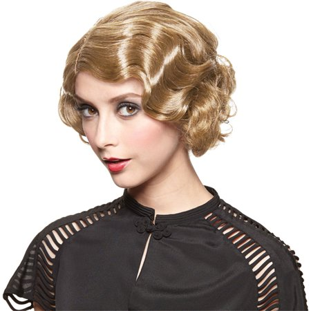 Finger Wave Wig (Morris Costumes Womens Gatsby Golden Blonde Finger Wave Wig One Size, Style)