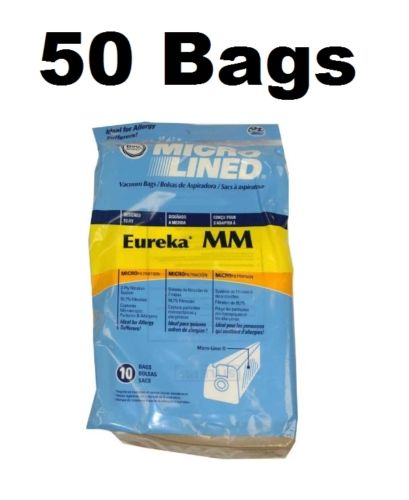 50 MM Style Mighty Mite Canister Vacuum Bags for Eureka 60295B 60296