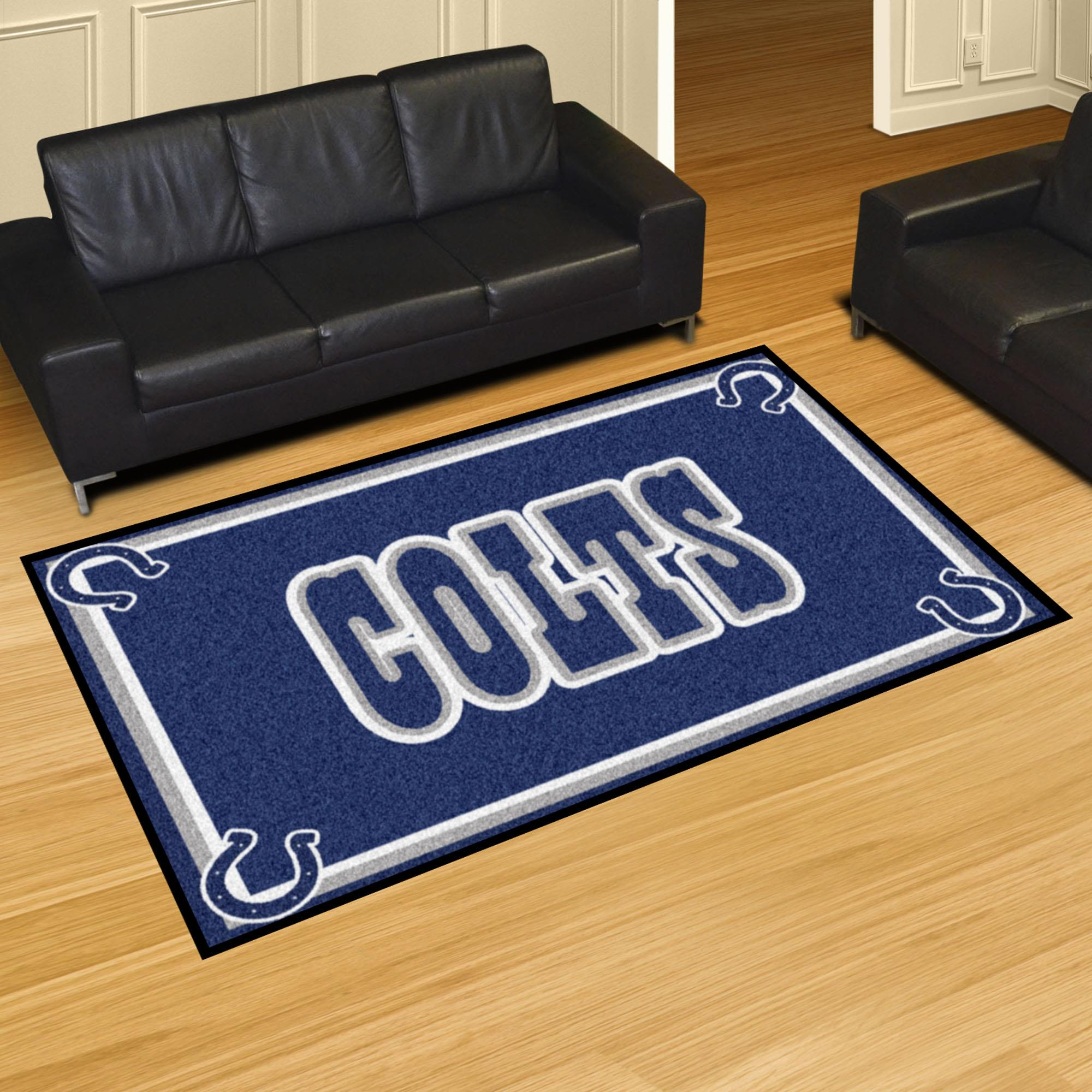 "NFL - Indianapolis Colts Rug-Shape:Rectangular,Size:60""Lx92""Wx0.5""H"