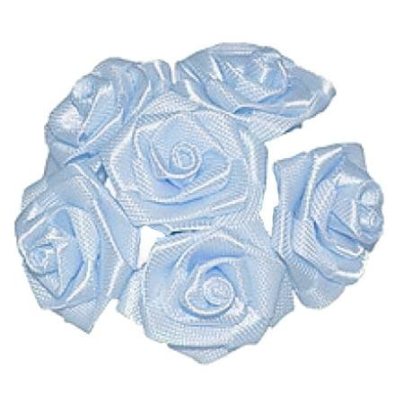 144 Large Wrap Rose Wedding Flower Pick - Light Blue](Flower Picks)