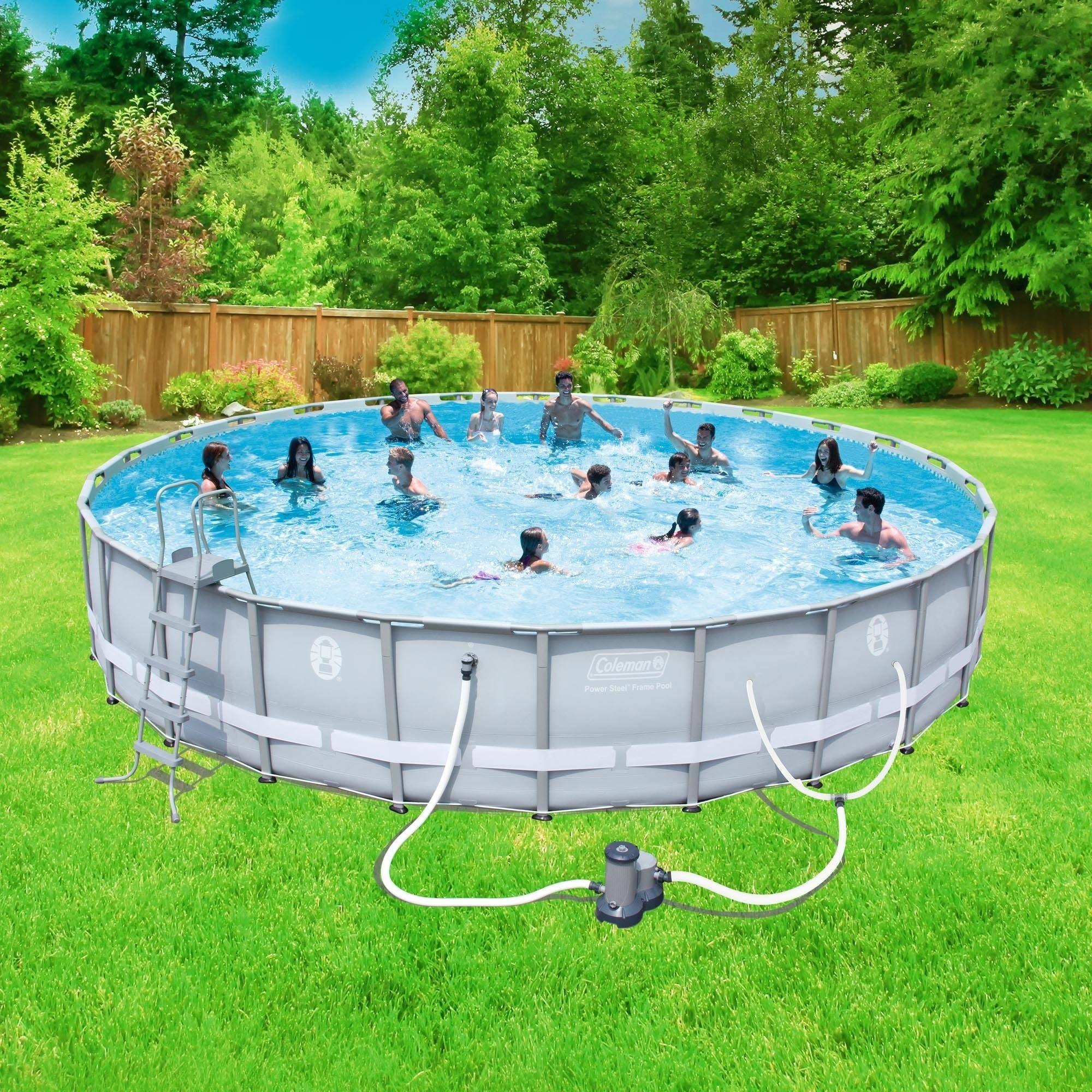"Coleman Power Steel 26' x 52"" Frame Swimming Pool Set"