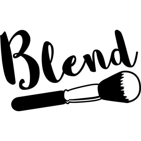 Blend Makeup Artist Vinyl Decal Sticker|Cars Trucks Vans Walls Laptops Cups|Black|7.5 in|KCD887