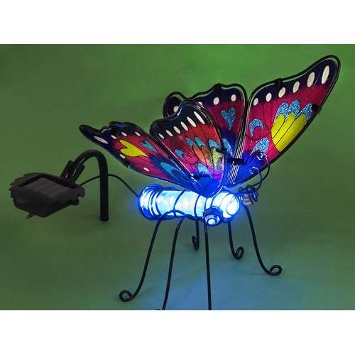 SunTime Outdoor Living Butterfly with Color Changing Solar Powered LED