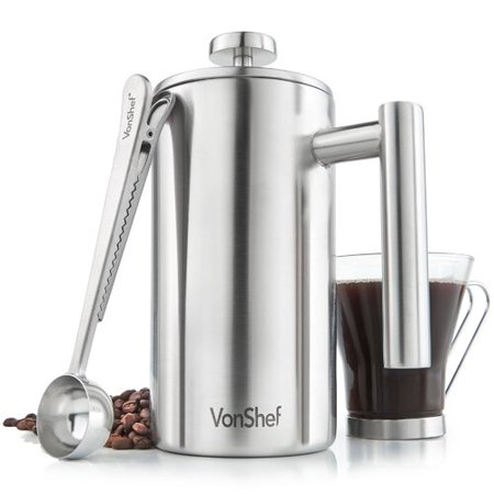VonShef VonShef Double Walled Cafetiere French Press Coffee Maker