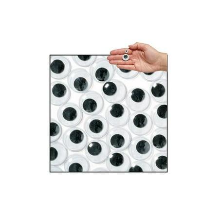 Colorations Jumbo Wiggly Eyes, Black - 100 Pieces (Item # (Jumbo Bright Eyes)