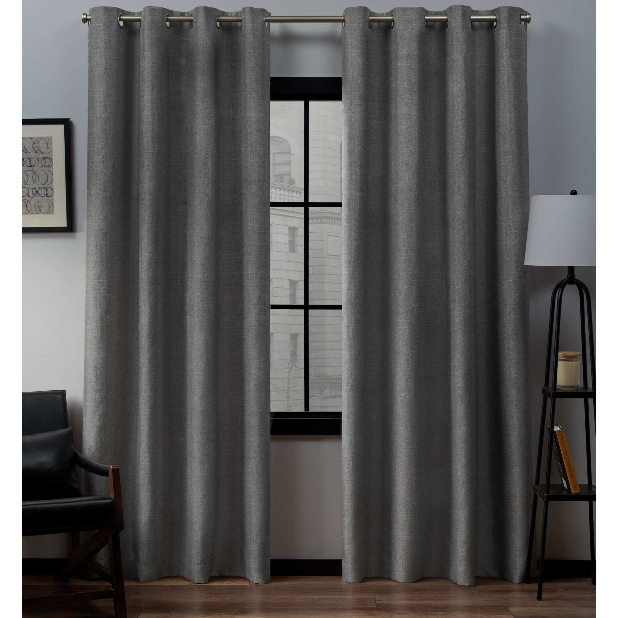 Exclusive Home Curtains 2 Pack Loha Linen Grommet Top Curtain Panels