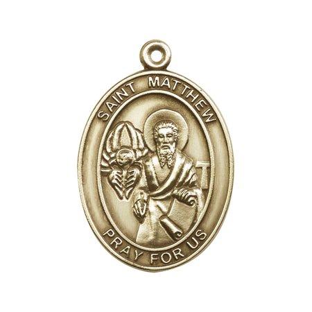 Antique Gold-Plated St. Matthew Keychain 1 7/8 x 1 1/4 -