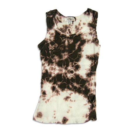 40b3a80f7e84f So Nikki - Big Girls Tie Dyed Tank Top brown white tie dye / 7/8