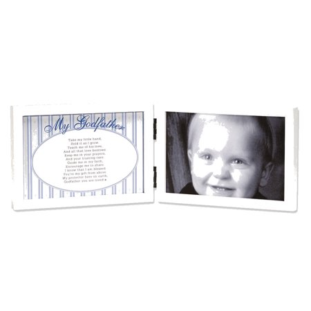 My Godfather White Double Hinged Tabletop Photo Frame 4x6 and Poem ...