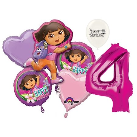 Dora The Explorer Birthday Decorations (4th Birthday Dora the Explorer Balloon)