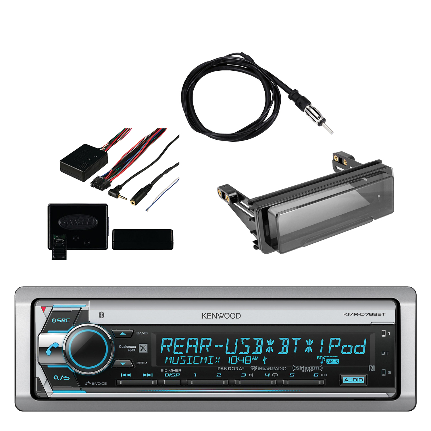 Kenwood Marine CD Receiver with Built in Bluetooth, Metra...