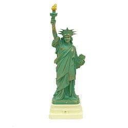 "Authentic Scaled 4"" Copper Statue of Liberty Replica Statues, NYC Souvenir by D&M"
