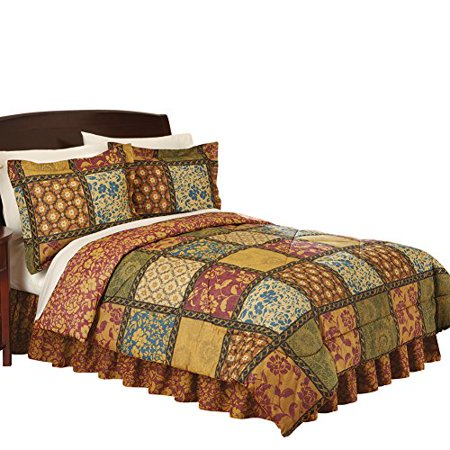 c6ac8a609 Collections Etc Quilted Vienna Bedroom Comforter Set, Full, Multi -  Walmart.com