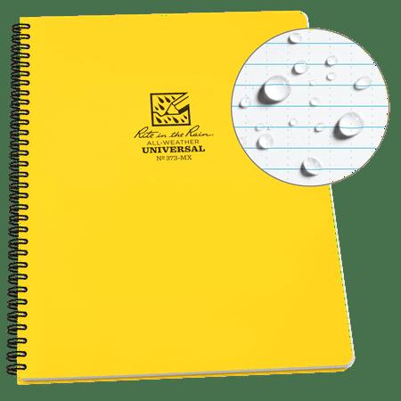 Spiral Notebooks Bulk (Rite in the Rain Weatherproof Side Spiral Notebook, 8.5