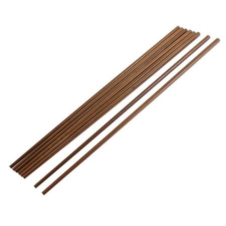 Unique Bargains Kitchen Hot Pot Cooking Noodles Wooden Chopsticks 42cm Length 4 Pairs