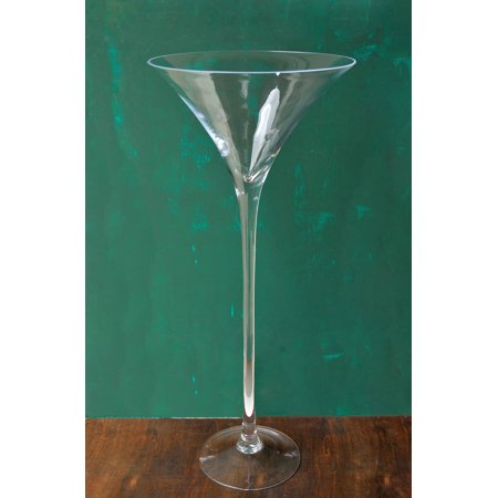 Tall 27in Glass Ritz Martini Vase Top 12in Wide Opening 11 1