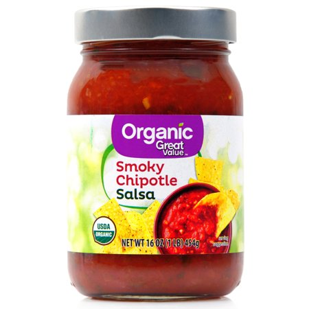 - (2 Pack) Great Value Organic Salsa Smoky Chipotle, 16 oz
