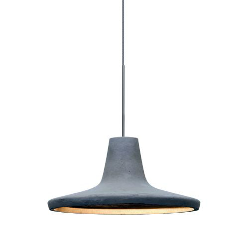Besa Lighting 1XT-MODUSNA-LED Modus Single Light LED Mini Pendant with Concrete by Besa Lighting