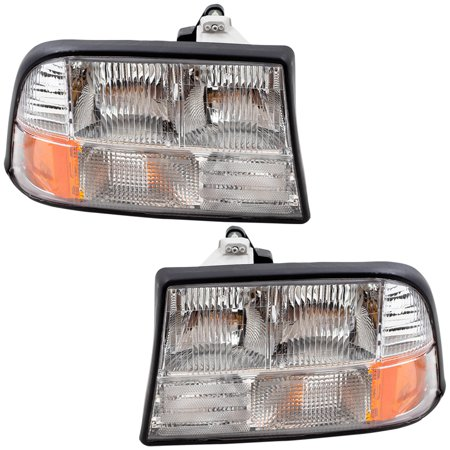 - BROCK Headlights Headlamps Driver and Passenger Replacement for GMC Oldsmobile Pickup Truck SUV 16526227 16526228