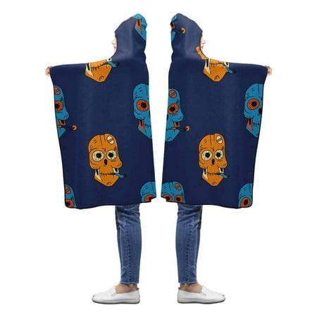 HATIART Robot Skull Hooded Blanket 40x50 inches Toddler Kid Baby Boys Girls Throw Polar Fleece Blankets Wrap - image 2 de 2