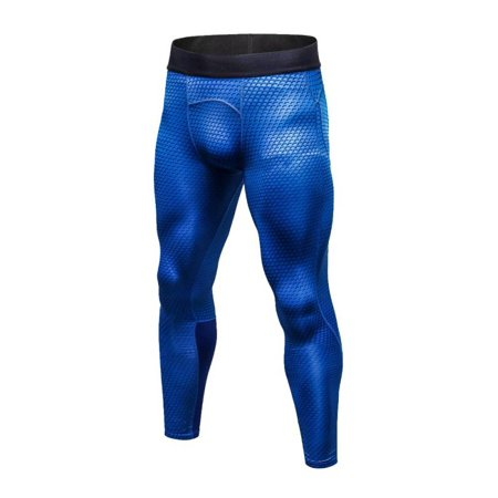 Sweetsmile Mens Quick Dry Pants Slim Bodybuilding Fitness Sweat Pants For Men Blue Trousers Wicking Sportswear S-2XL ()