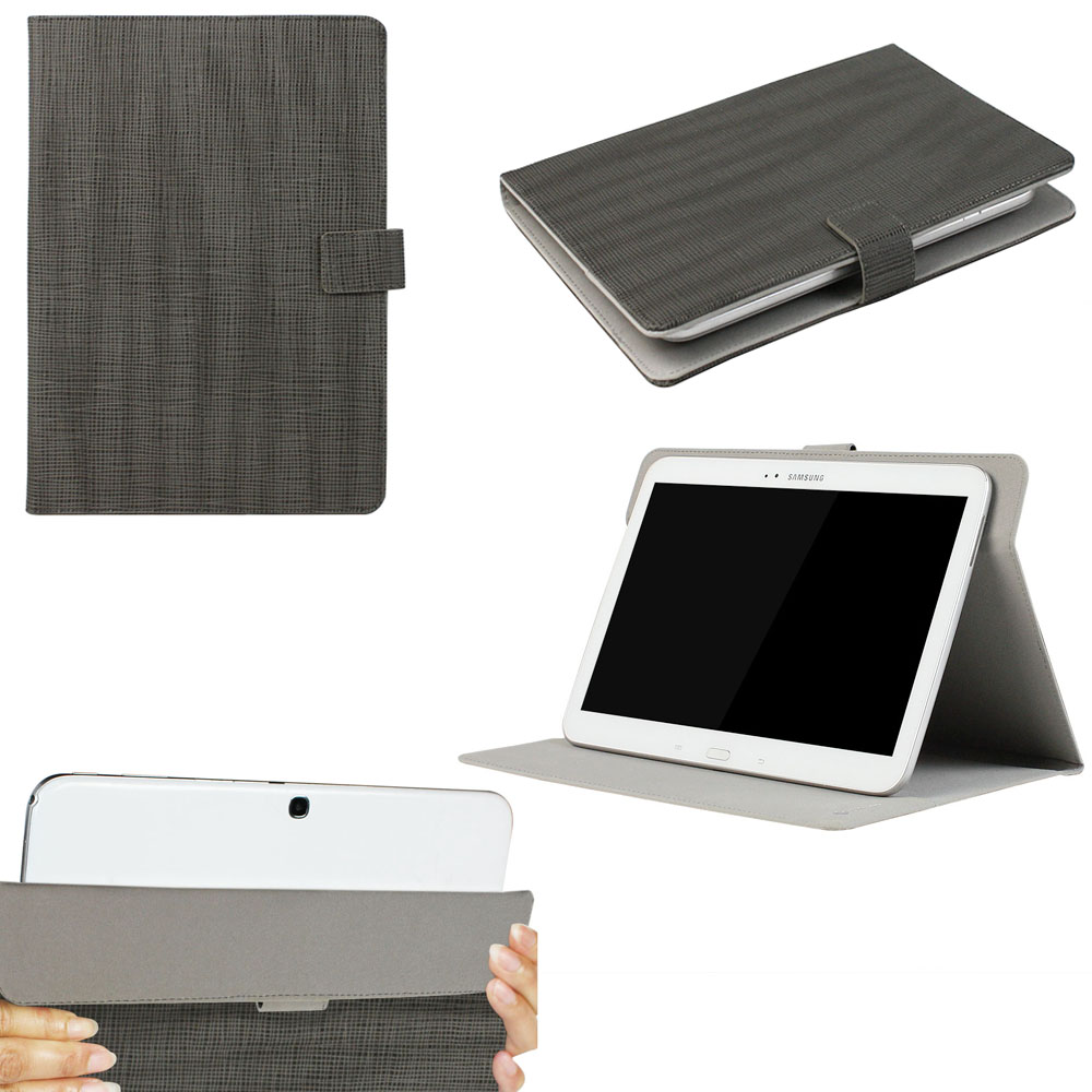 "JAVOedge Gray Grain Pattern Universal Book Case for 9-10"" Tablets, iPad Air, Samsung Note, Nook HD 9, Nexus 10 + More"