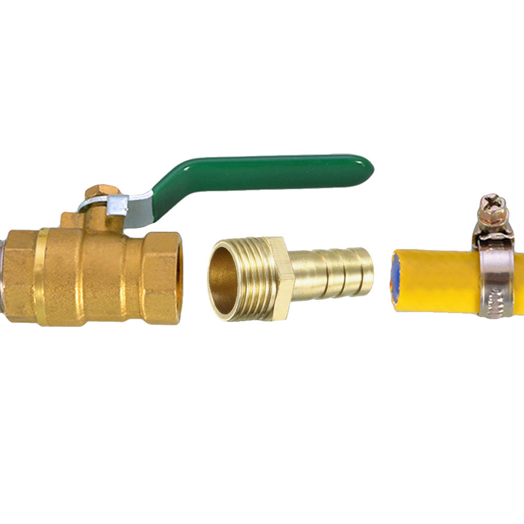 Brass Barb Hose Fitting Connector Adapter 10mm Barbed x 3/8 PT Male Pipe - image 3 of 4