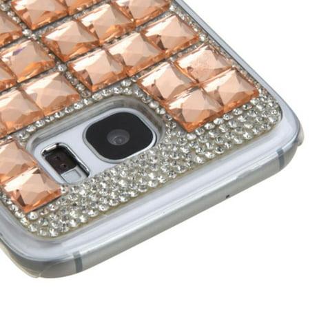 Insten Hard Diamond Cover Case For Samsung Galaxy S7 Edge - Rose Gold - image 1 de 3