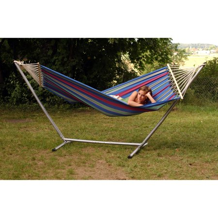 Byer of Maine Aruba Jet Set Fabric Hammock with Steel Stand