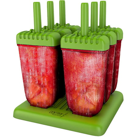 Oak Leaf Popsicle Molds - BPA Free - 6 Ice Pop Makers](Bomb Pop Popsicle)
