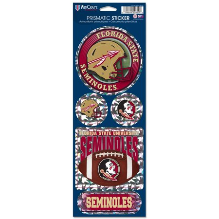 - Florida State Seminoles Official NCAA 4 inch  x 11 inch  Prismatic Car Decal Set by WinCraft