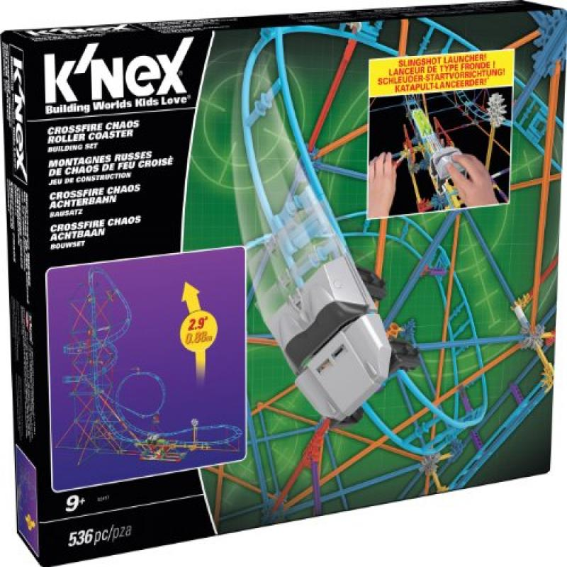 K'NEX Crossfire Chaos Roller Coaster Building Set  Exclusive