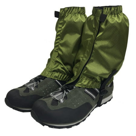 1 Pair Hiking Hunting Boot Gaiters Waterproof Snow Snake High Leg Durable Shoes Cover Green thumbnail