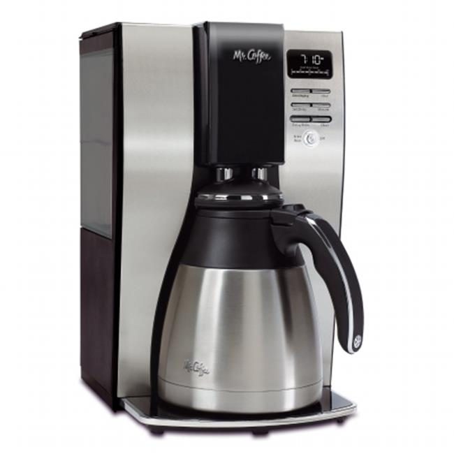 Classic Coffee Concepts BVMCPSTX91 Optimal Brew 10-Cup Thermal Programmable Coffeemaker, Black & Brushed Silver