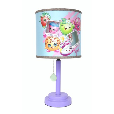 Shopkins Diecut Purple Glitter 3D Table Lamp (Purple Glitter Lamp)