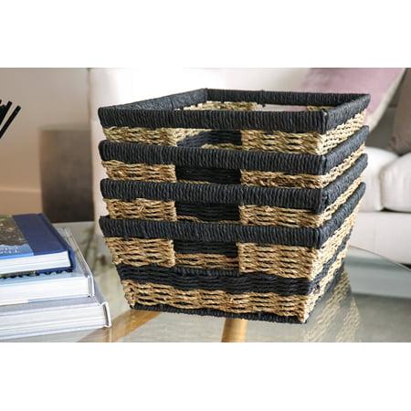 Handcrafted 4 Home Wicker Baskets (Set of - Wicker Baskets Wholesale