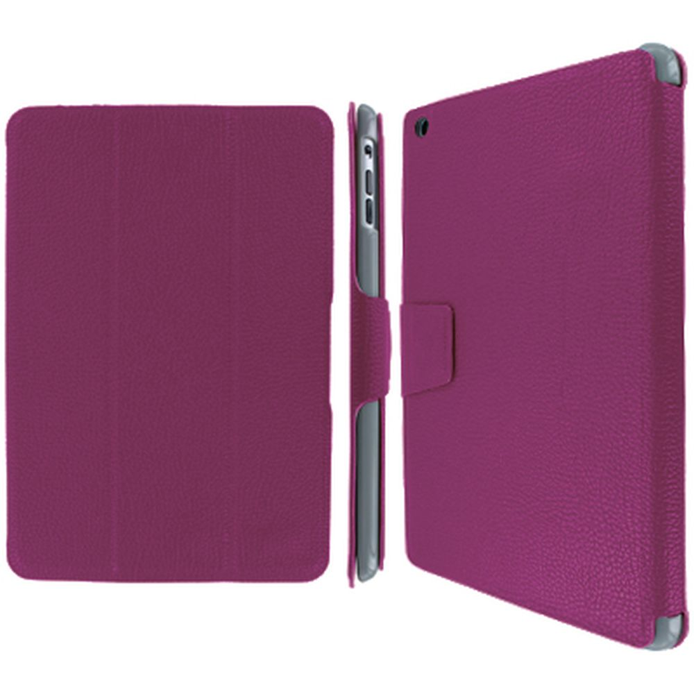 EMPIRE Polyurethane Leather Stand Smart Case Cover for Apple iPad mini - Hot Pink