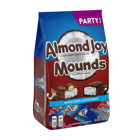 Mom Dad Eat All Halloween Candy (Almond Joy Mounds, Halloween Chocolate and Coconut Miniatures Candy, 32.1)