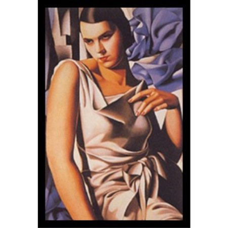 FRAMED Madame M by Tamara De Lempicka 16x25 Art Print Poster Abstract Figurative Woman with a Serious Face Classy Dress
