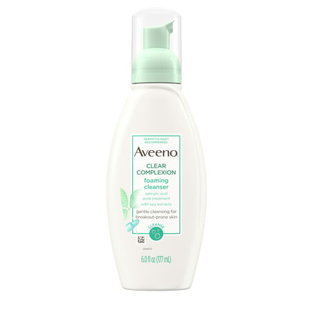 Aveeno Clear Complexion Foaming Facial Cleanser with Soy, 6 fl.