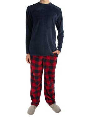 1e500d6902 Product Image Joe Boxer (2 Piece) Men s Fleece Pajamas Set Soft Shirt Warm Pants  PJ Sleepwear