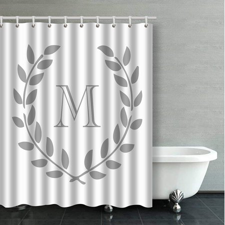 Monogram Shower Curtain (ARTJIA Decors Monogram Bathroom Shower Curtain 60x72 inches)