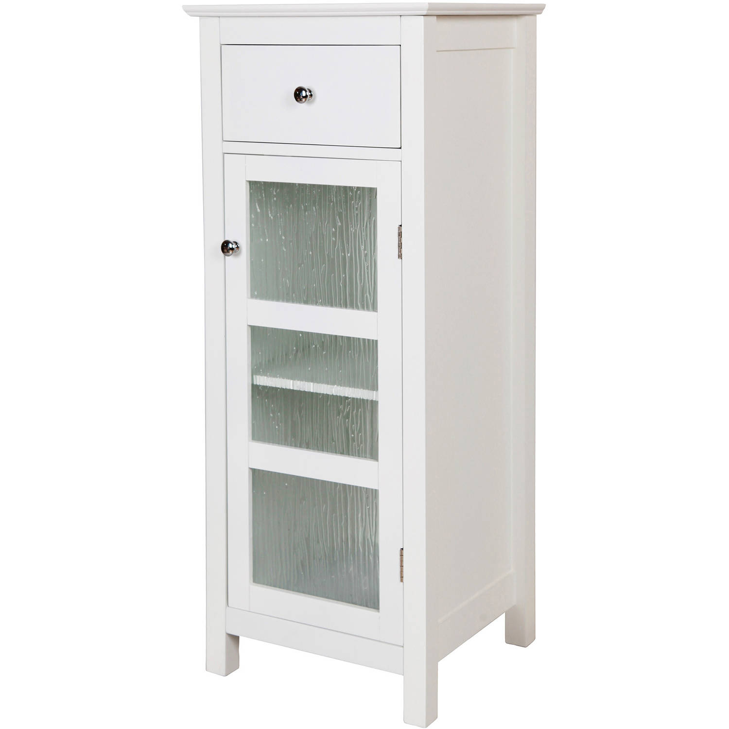 Connor Floor Cabinet with 1 Door and 1 Drawer White Walmart
