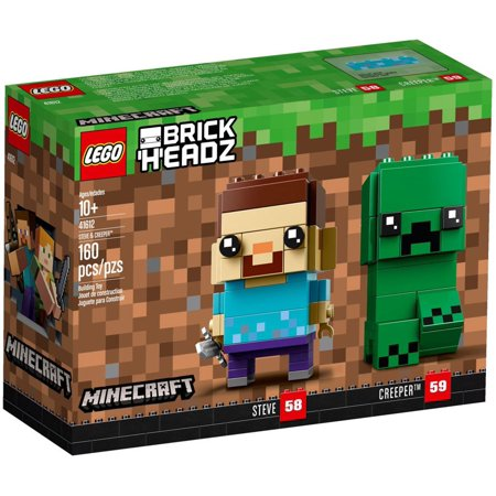 5e1c688b163b Minecraft Brick Headz Steve   Creeper Set LEGO 41612 - Walmart.com