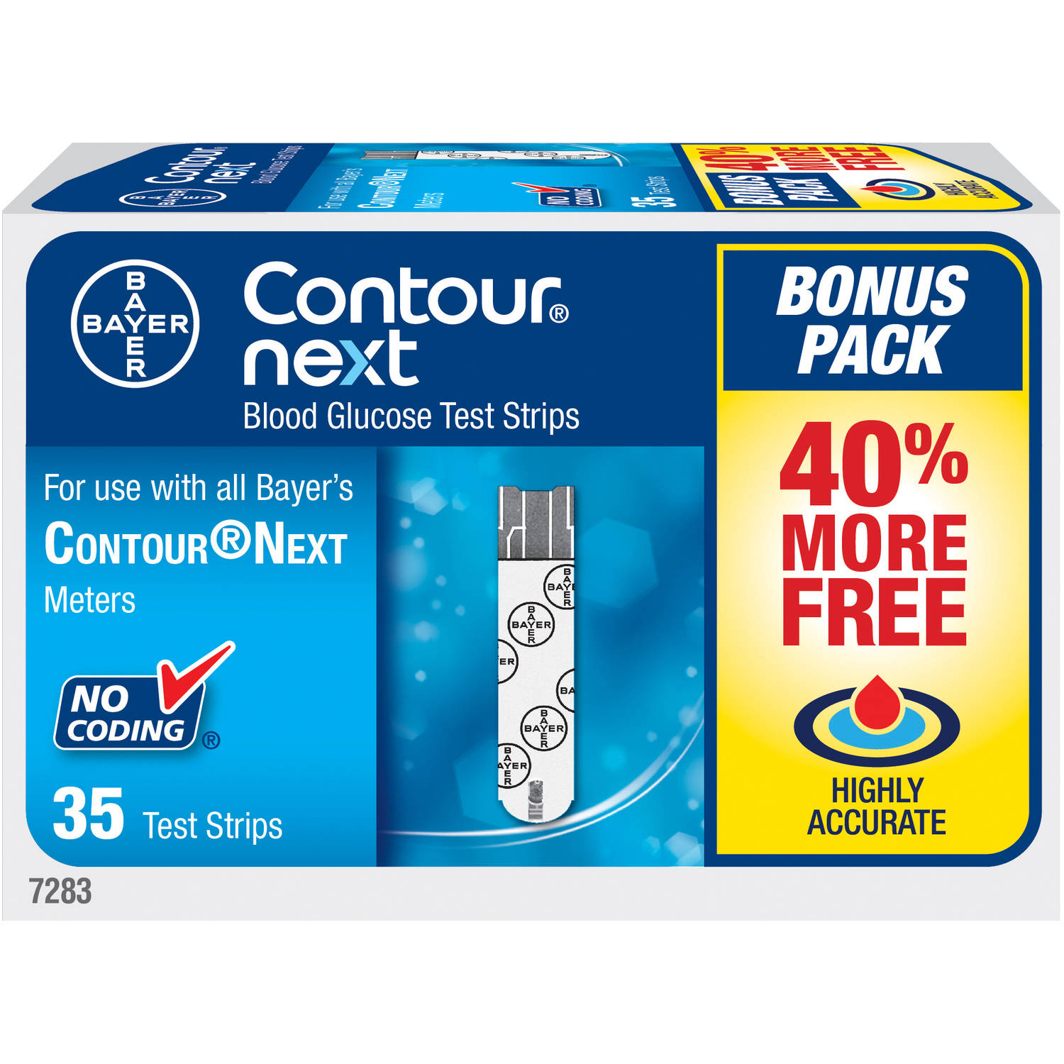 Bayer Contour Next Blood Glucose Test Strips, 35 count