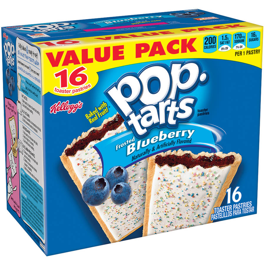 Kellogg's Frosted Blueberry Pop-Tarts Toaster Pastries, 16 ct