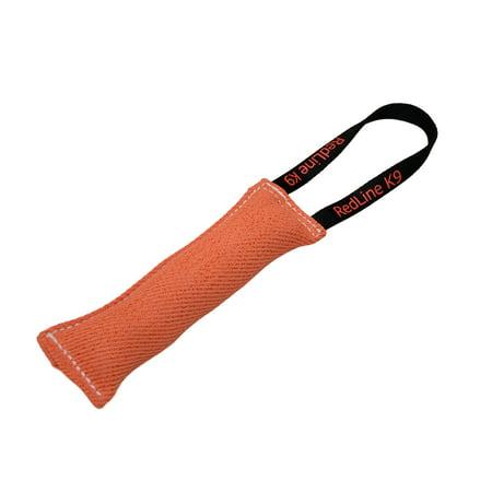 Dog Bite Tug Toy 3 inch X 16 inch 1 Handle Orange French Linen - Redline K9
